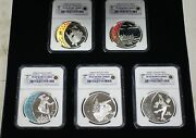 2008 Canada Hologram Coins, 5 Silver 25 Ngc Pr-69 Set, Olympic Royal Mint
