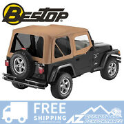 Bestop Sailcloth Replace A Top For 88-95 Jeep Wrangler Yj Tinted Windows Spice
