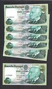 Portugal P-176a , 20 Escudos, 1978 , Lot Of All 6 Different Signatures