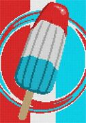July Fourth Ice Pop Needlepoint Kit Or Canvas Home