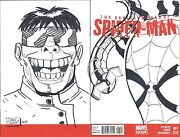 Superior Foes Of Spiderman 1 Blank Rare Df Signed Remarked Doc Ock Sketch