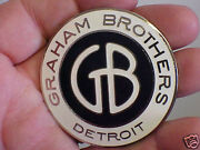 Graham Brothers Radiator Emblem Medallion 1920s - 1930and039s Cloisonne Fired