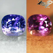 3.03 Ct.full Fire Unheated Natural Cushion 78 Violet Blue Color Change Sapphire