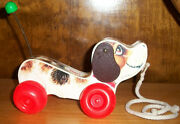 Vintage 1965 Fisher Price Little Snoopy Dog Pull-toy