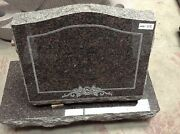 Monument Granite Head Tomb Grave Marker Cemetery Stone Canadian Red Mn-112