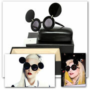 Linda Farrow Ladies Mickey Mouse Celebrity Sunglasses W/ Box, Case And Tag