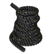 1.5 2 30/40/50ft Poly Dacron Battle Rope Workout Training Strength Fitness