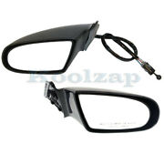 95-01 Chevy Lumina Rear View Mirror Manual Remote Black Pair Set Left With Lever