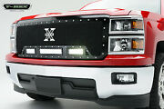 T-rex Torch Series Led Grille For And03914-and03915 Chevrolet Silverado 1500 6311181 Black