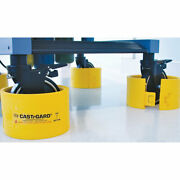 Small Castrgardandreg Wheel Guard For Up To 5 Casters Yellow 4 Pk