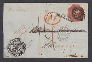Great Britain Sg 57 10p Brown Qv On 1949 Cover London To Florence Italy. Cert.