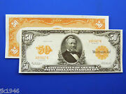 Reproduction 50 1913 Gold Certificate Note Us Paper Money Currency Copy