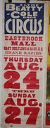 Clyde Beatty Cole Bros. Eastbrook Mall Circus Poster-collection / Gift