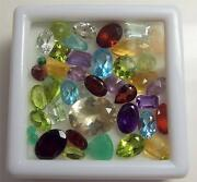 25+ Carats Of Mixed Loose Faceted Semi-precious Gemstones For Jewelry Lot3-17