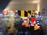 Maryland State Decal Sticker Md Annapolis 6 X 4.75 Buy 3 Get A Free Md Crab