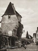 1924 Vintage Germany Sulzfeld Town Wall Village Rooster Duck Photo By Hielscher