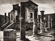 1925 Vintage Italy Photo Art Pompeii Isis Temple Architecture Ruins By Hielscher