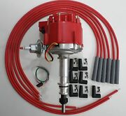 Ford Inline 6 64-83 170,200,250 Hei Distributor And Red Universal Spark Plug Wires