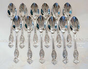 A Complete Set 12 Of Wendt Apollo Figural Sterling Ice Cream Spoons C.1865