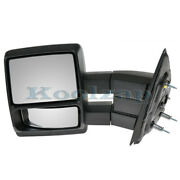 04-14 F150 Pickup Truck Manual Telescopic Tow Mirror Textured Black Driver Side