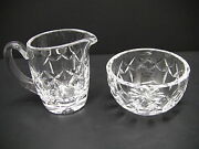 Waterford Crystal Kerry Made In Ireland Open Sugar And Creamer Set