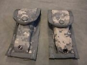 Lot Of Two 2 New Miilitary Surplus Us Army Acu Molle Ii 9mm Mag Pouch