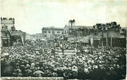 Postcard Of 20,000 People At Drilling Contest On July 4th In Goldfield, Nevada
