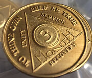 100 Bronze Aa Recovery Medallion Coin Alcoholics Anonymous Any Month And Year Na