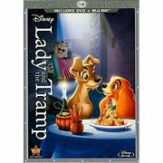 Disney Lady And The Tramp Diamond Edition Dvd And Blu-ray Combo Pack Dvd/blu-ray