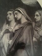 Antique Vintage Maries At The Sepulchre Holy Sacred Christian Art 1870and039s