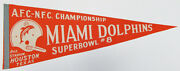 1974 Miami Dolphins Super Bowl Viii 8 30 Pennant Excellent Very Rare 21089