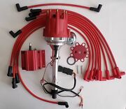 Small Block Chevy 350 Pro Series Hei Distributor,coil And Spark Plug Wires Over Vc