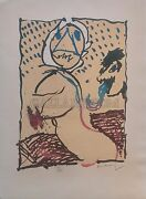 Pierre Alechinsky La Taille Douce 1969   Signed   Of 100   See Live   Gallart