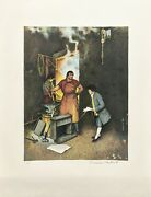 Norman Rockwell The Village Smithy 1973 | Signed Print Poor Richardand039s Almanac