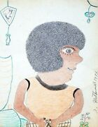 Inez Nathaniel Walker Unknown 1973 | Original Pencil And Crayon/paper | 14 X 11