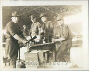 1929 Military Officers Fort Bliss Tx Campbelland039s Pork And Beans Case Press Photo