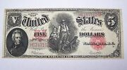 1907 Five Dollar 5 Woodchopper United States Note Legal Tender Red Seal Large