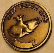 Sub / Seal Delivery Vehicle Team One Sdvt-1 Brass Navy Challenge Coin