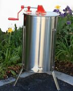 2 Frame Honey Extractor Beekeeping Tank 201 Stainless Steel W/legs And Honey Gate