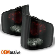 Fits Black Smoked 94-04 S10 Sonoma Pickup Tail Lights Brake Lamps Replacement