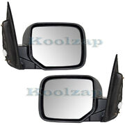 For 09-15 Pilot Rear View Door Mirror Power Non-heat Smooth Left Right Set Pair