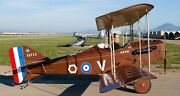 Spad 13 Early Bird Usa Private Airplane Wood Model Replica Big Free Shipping