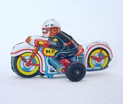 Modern Toys Japan Mp Military Police Motorcycle 9cm Tin Friction Toy Nm`68 Rare