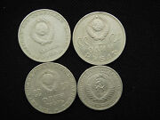 Set 4 Different Old Russia Russian Ussr 1 Ruble Rouble Coins 1964 1970 Nr. 5939