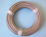 304 Stainless Steel Wire Rope Cable, 1/4, 7x19, 100 Ft, Made In Korea