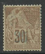 French Colonies-nossi Be. 1889. 25c On 30 Cinnamon On Drab. Sg 7. Fine Used.