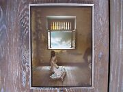 Jan Saudek Woman In Front Of Window, Rare Signed Hand Coloured, Photograph