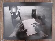 Jan Saudek My Father Writes A Letter To Himself, Rare Signed, Photograph