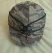 King Of The Mountain Railroad Cap, Size Small, Autumn Brown, Wool, New, Usa Made