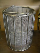 New Holland Spindryer Heavy Duty Baskets 18x18 4 Mesh Stainles Steel Drop Botm